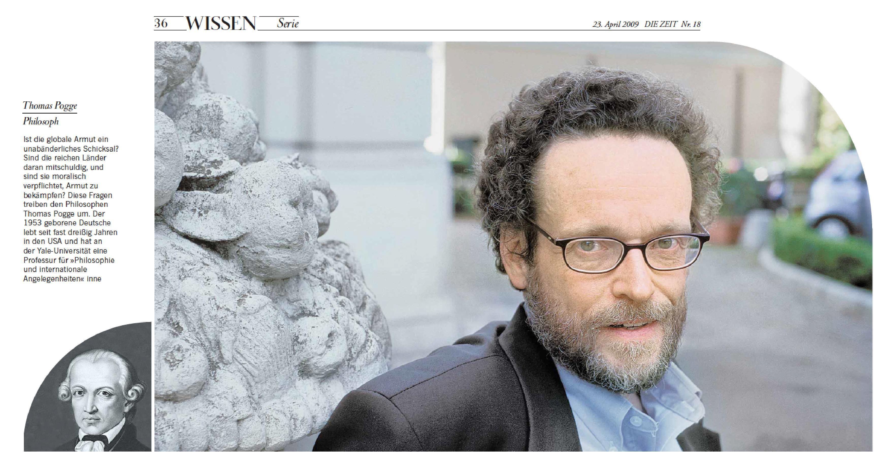 """DIE ZEIT foto """"Der Weltverändererdenker,"""" 23. April 2009, Nr. 18, S. 36 (Wissen)."""