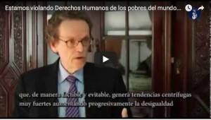 """Prof. Pogge habla de """"¿Estamos violando los Derechos Humanos de los pobres del mundo?"""""""