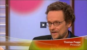 Meinhard Schmidt-Degenhard im Gespräch mit Professor Pogge, HR Fernsehen Horizonte, 16. Mai 2009.