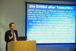 Prof. Pogges Vortrag an der Hauptstadtkongress Medizin und Gesundheit, Berlin, 7. Mai 2010