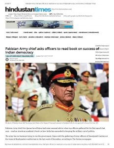Pakistan Army Chief Asks officers to read Army and Nation