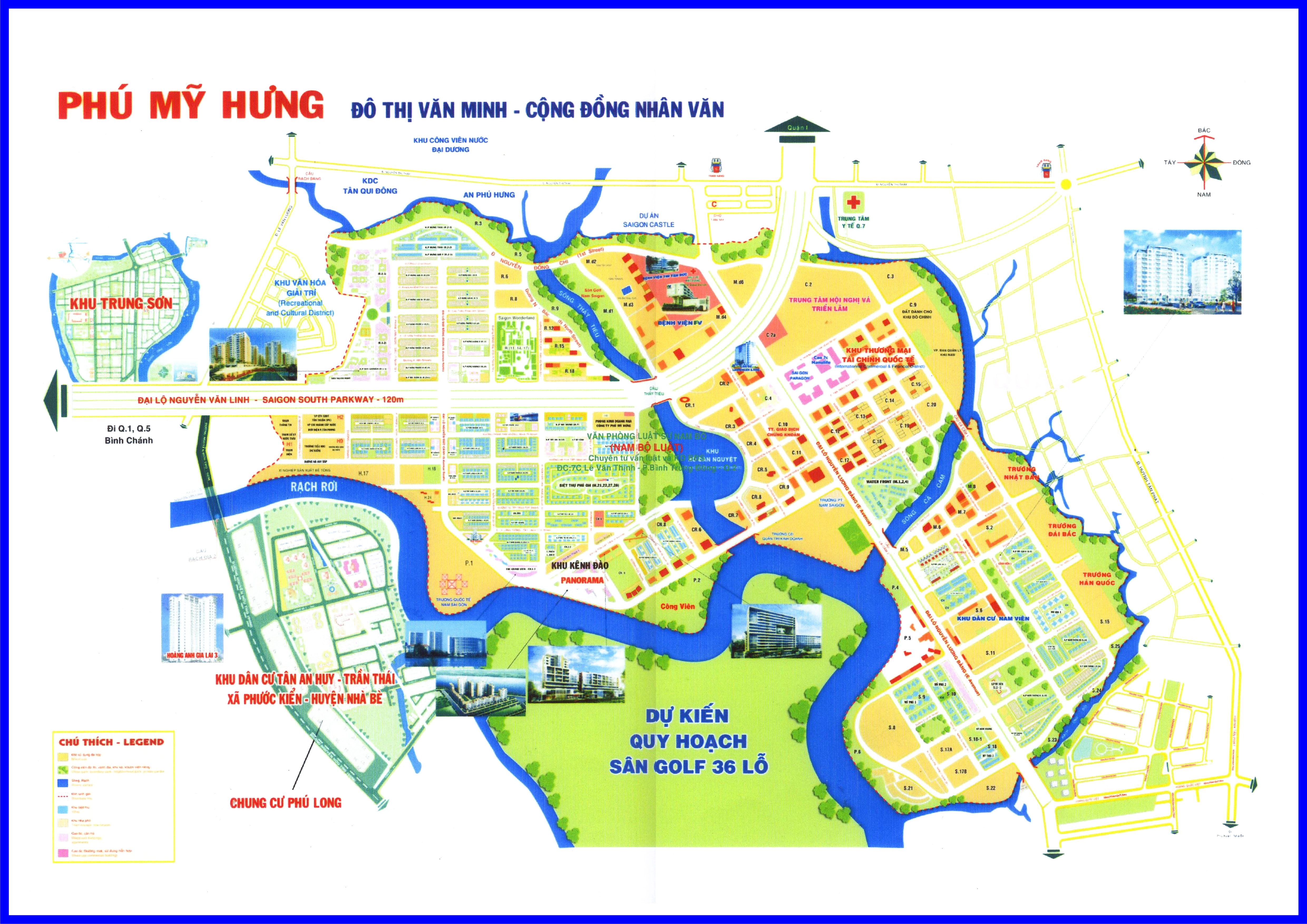 Phú Mỹ Hưng and District 7 Maps – New Urban Vietnam