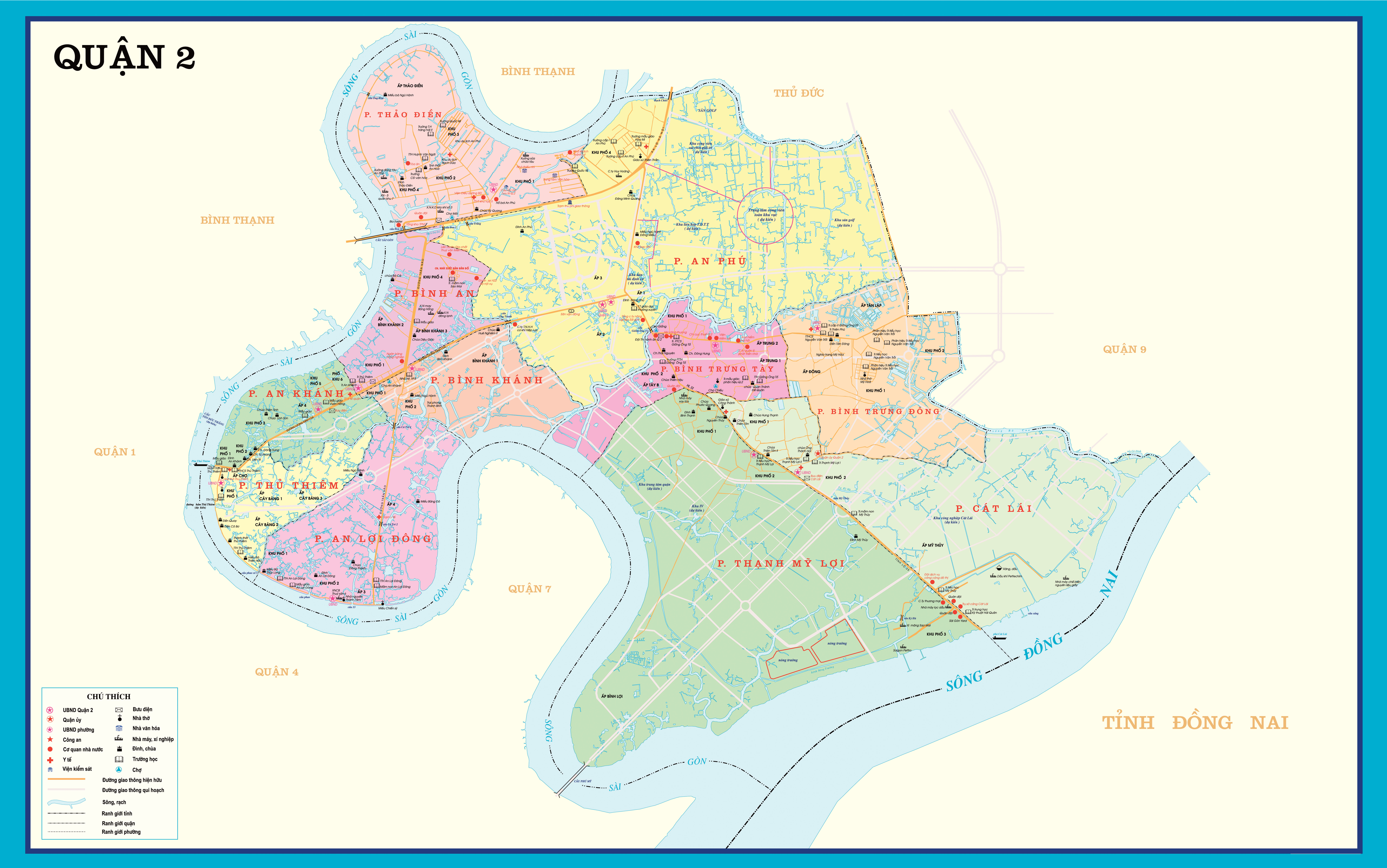 Thủ Thiêm and District 2 Maps – New Urban Vietnam