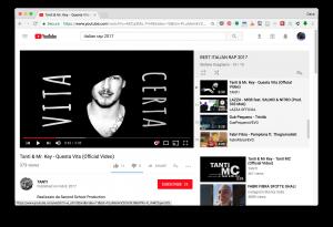 Italian rap video YouTube screenshot