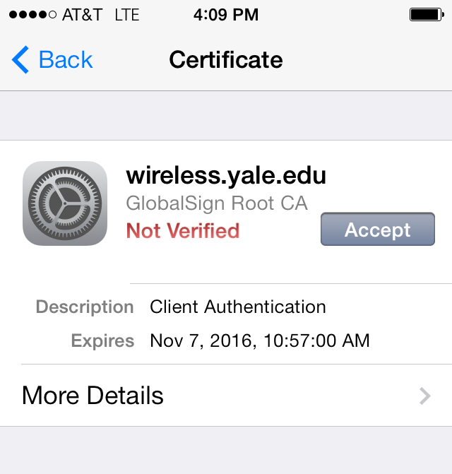 Wireless Certificate