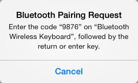 BluetoothPairCode