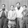 Black and white photo of Langston Hughes, Mikhail Koltsov, Ernest Hemingway, Nicholas Guillen
