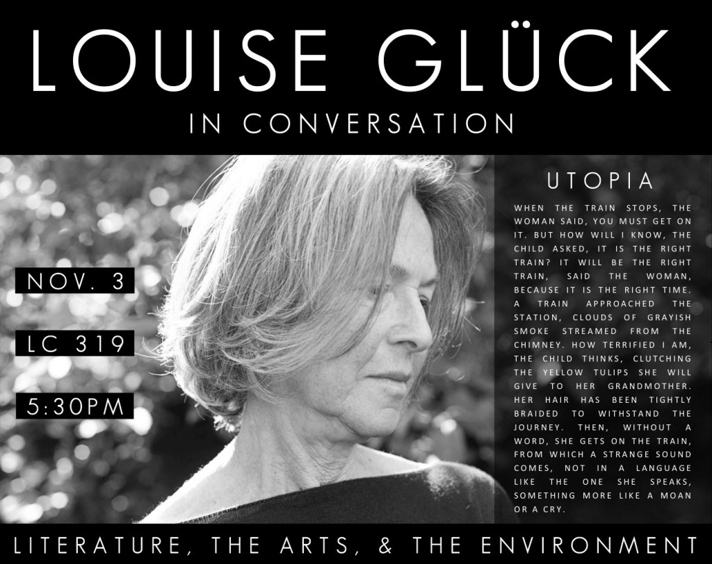 louise glück poster - landscape version, revised