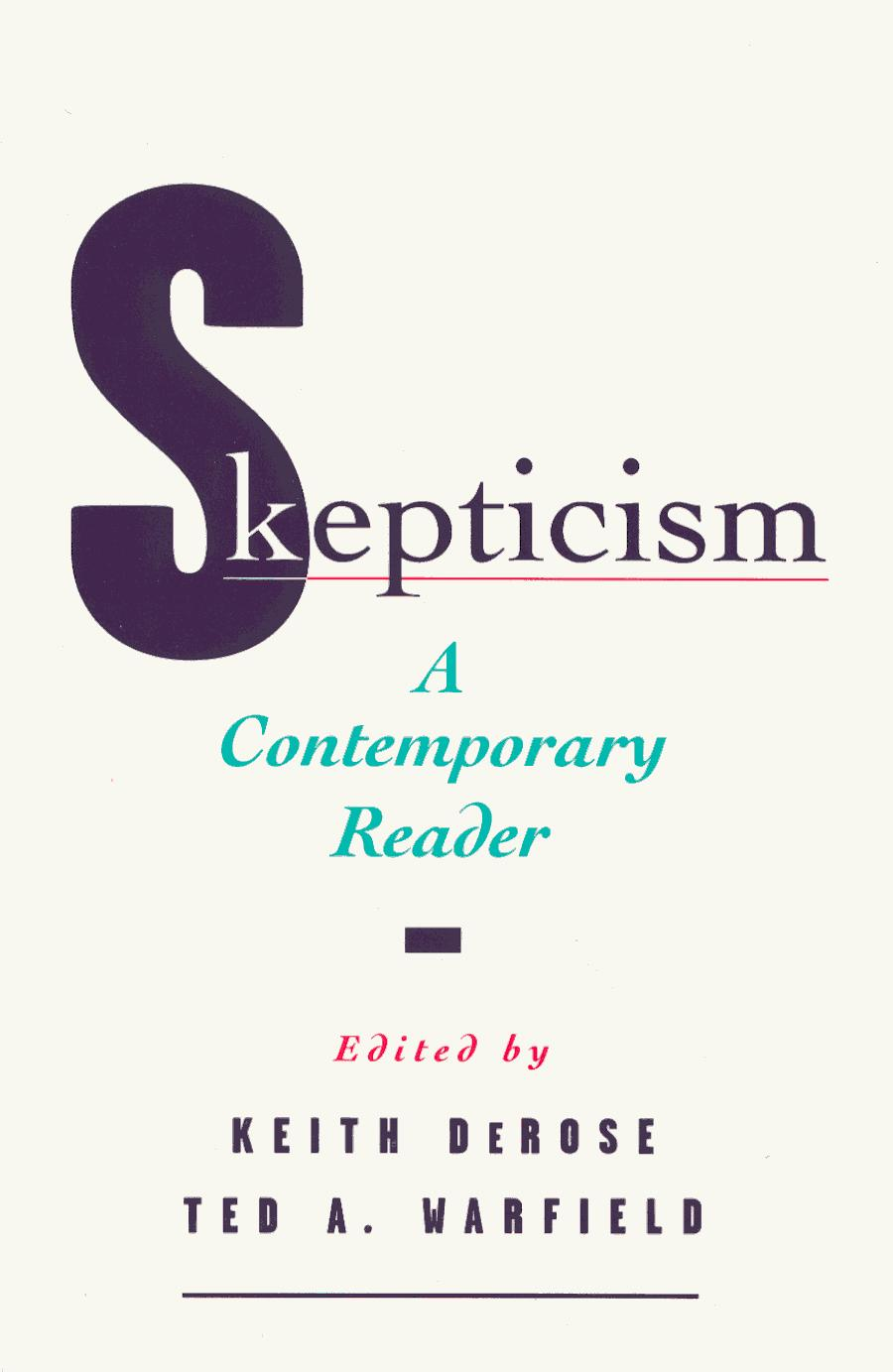 essays on skepticism brueckner