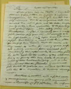 Pickering to Baldwin, October 27, 1827, Page 1 of 3