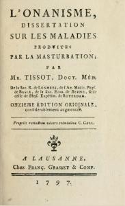 Tissot, L'Onanism, 1797 edition.