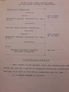 "First page of the ""Softball Order"" memorandum"