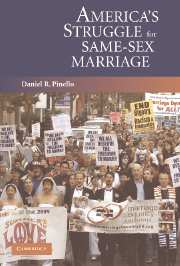 Cover image, Daniel R. Pinello, America's Struggle for Same-Sex Marriage, Cambridge University Press, 2006.