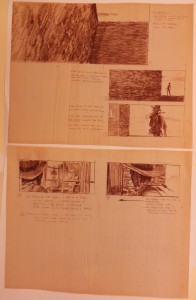Storyboard for the film, Butch Cassidy and the Sundance Kid
