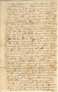 Letter from Henry Obookiah, sent from Cornwall, Connecticut, to Samuel Wells, Jr. of Greenfield, Massachusetts, dated 16 June 1817, page 3. Gustave R. Sattig Collection (MS 1429), Box 1, folder 17. Manuscripts and Archives, Yale University Library.