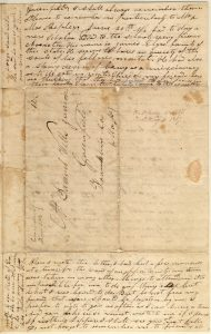 Letter from Henry Obookiah, sent from Cornwall, Connecticut, to Samuel Wells, Jr. of Greenfield, Massachusetts, dated 16 June 1817, page 4. Gustave R. Sattig Collection (MS 1429), Box 1, folder 17. Manuscripts and Archives, Yale University Library.