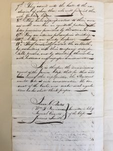 Petition regarding Commons, page 2, circa 1800-1801, Bates Family Papers (MS 65), Box 1, folder 5
