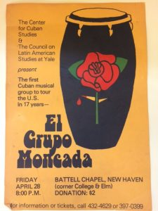 """El Grupo Moncada"" event poster, circa 1980s. Mary Johnson Papers (MS 2050), Box 20."