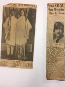 Clippings relating to Dorothy Hadley's marriage Malaku Bayen, circa 1931. Dorothy Hadley Bayen Papers (MS 1570), Box 1, Folder 3.