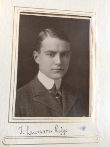 Photograph of T. Lawrason Riggs from Scroll and Key senior album, 1910. Call number: Yeg2 K61x 1910.