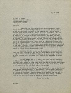 Letter from John C. Tracy to Paul R. Jordan, May 8, 1937