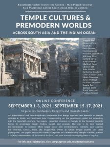Temple Cultures & Premodern Words - Conference Poster