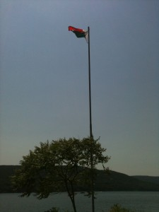 Malagasy flag over Lake Canandaigua