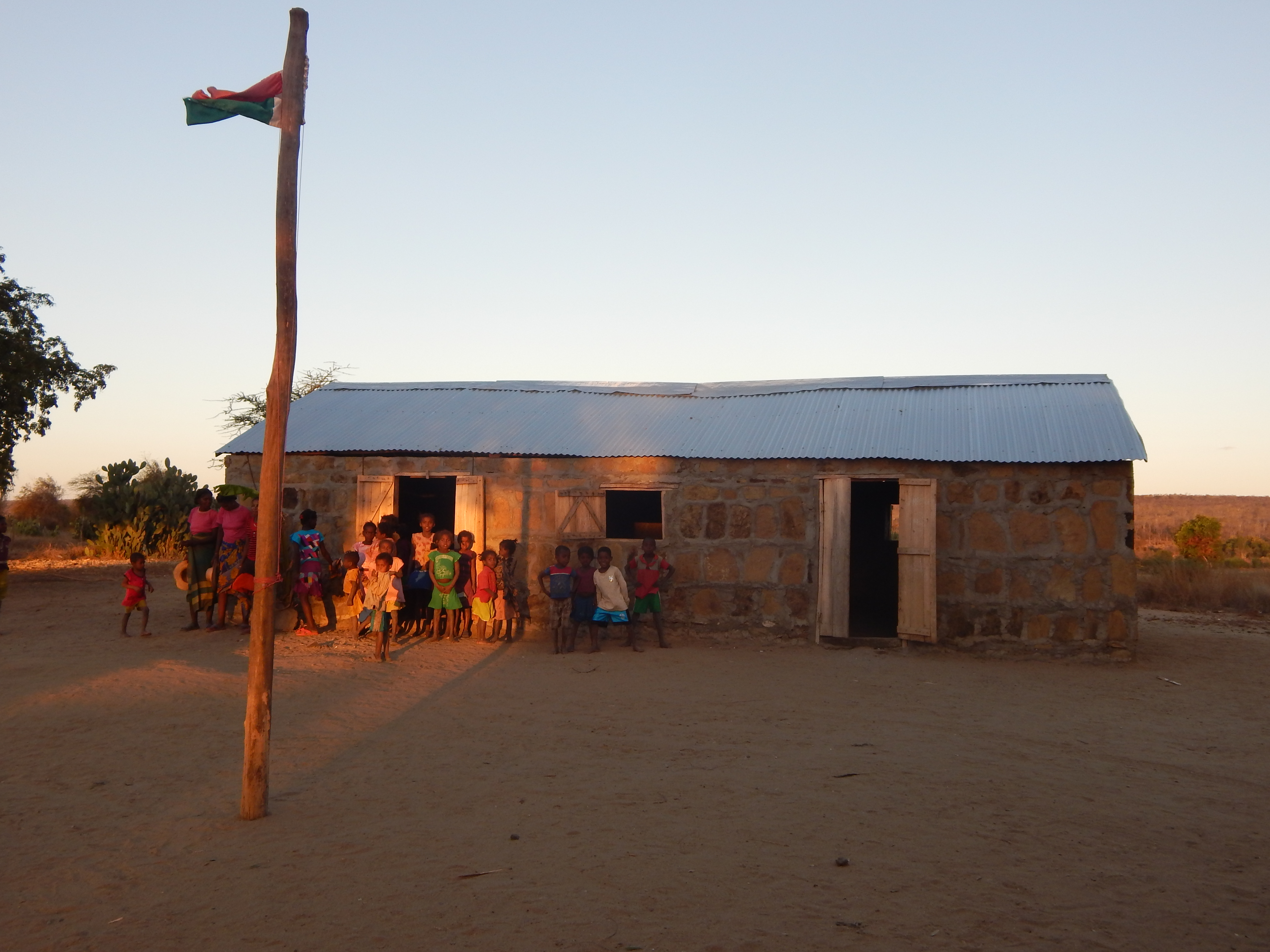 Newly constructed school in Ampitanabo