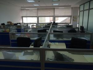 An empty office...
