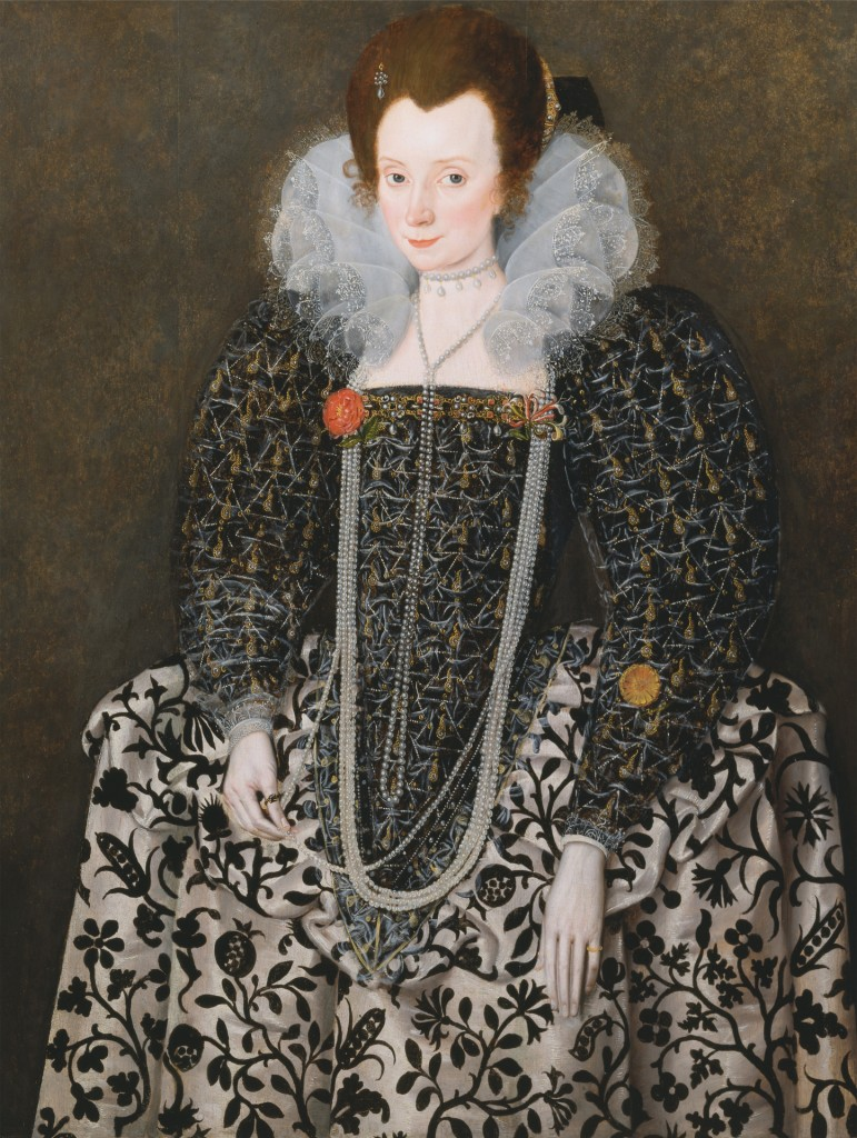 Portrait of a Woman, Traditionally Identified as Mary Clopton (born Waldegrave), of Kentwell Hall, Suffolk, Robert Peak the Elder