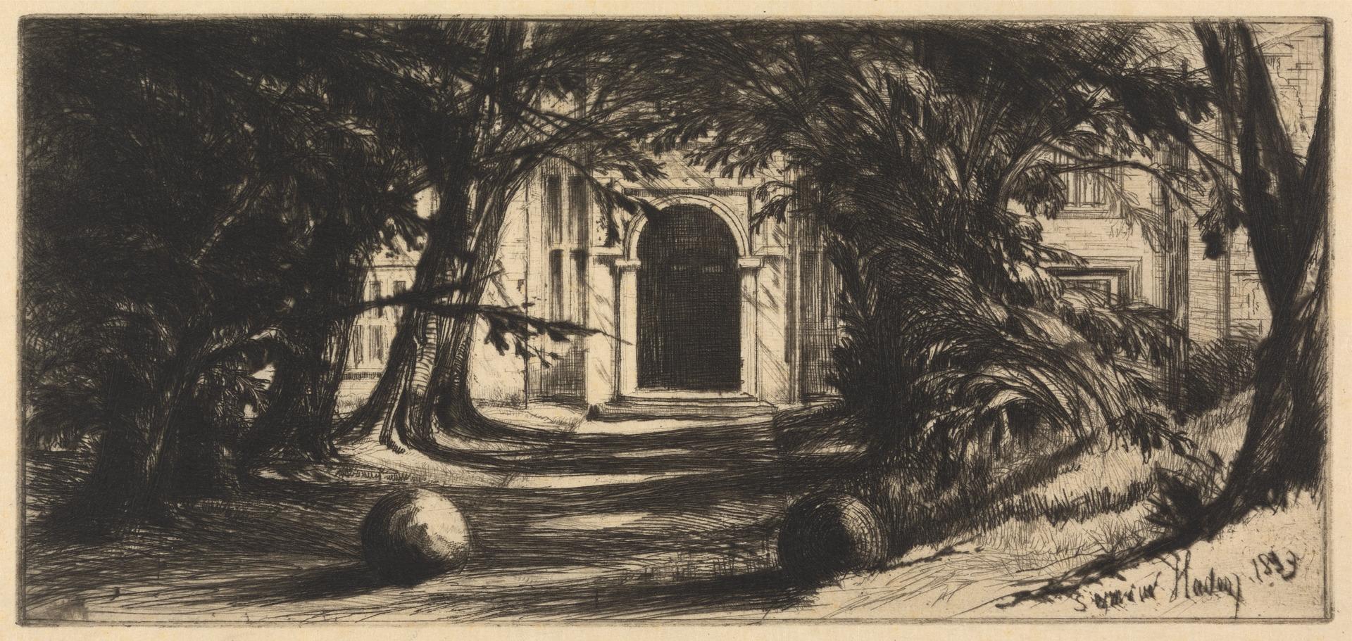 Mytton Hall, Francis Seymour Haden, 1818-1910