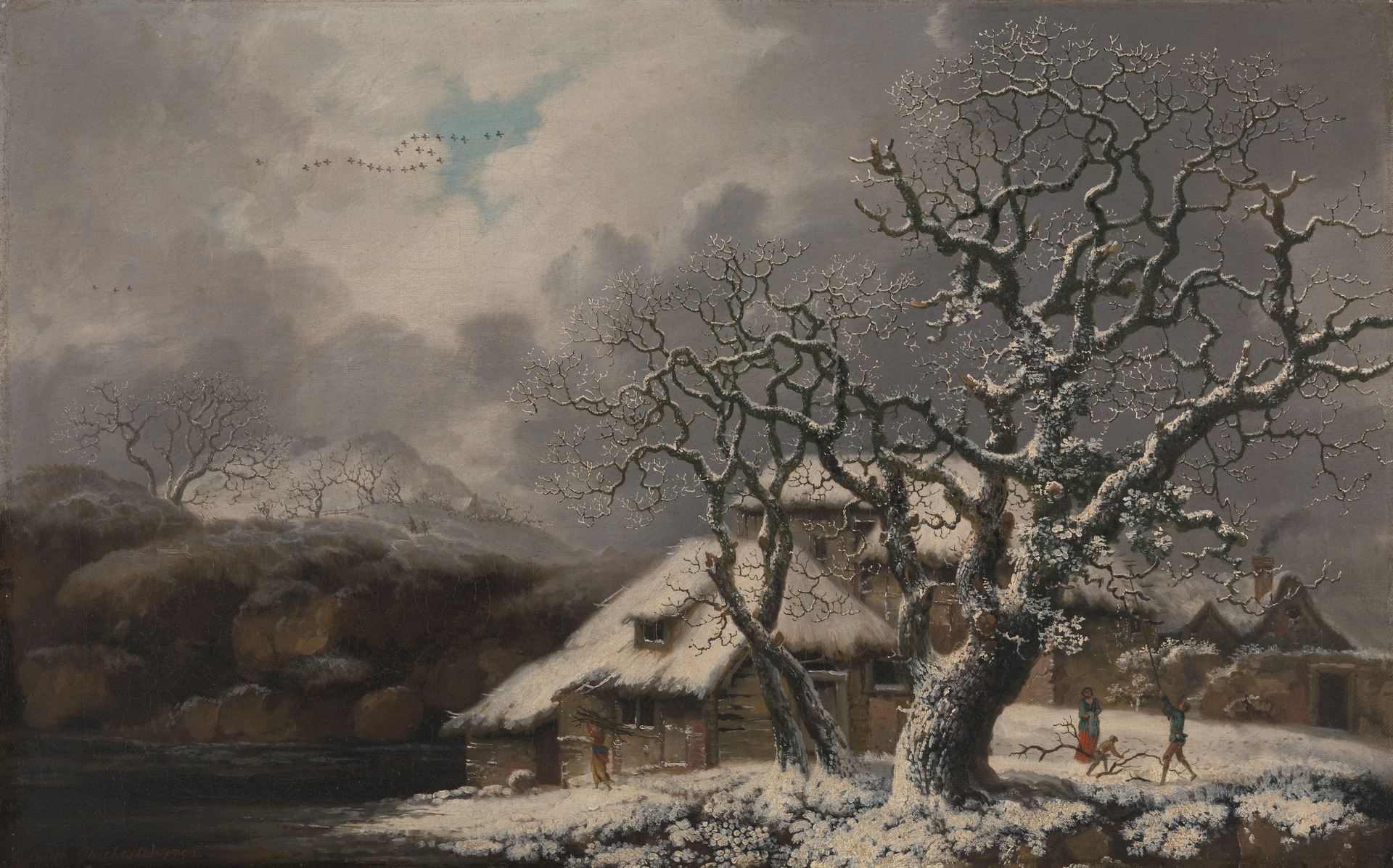 A Winter Landscape. George Smith. 1752.