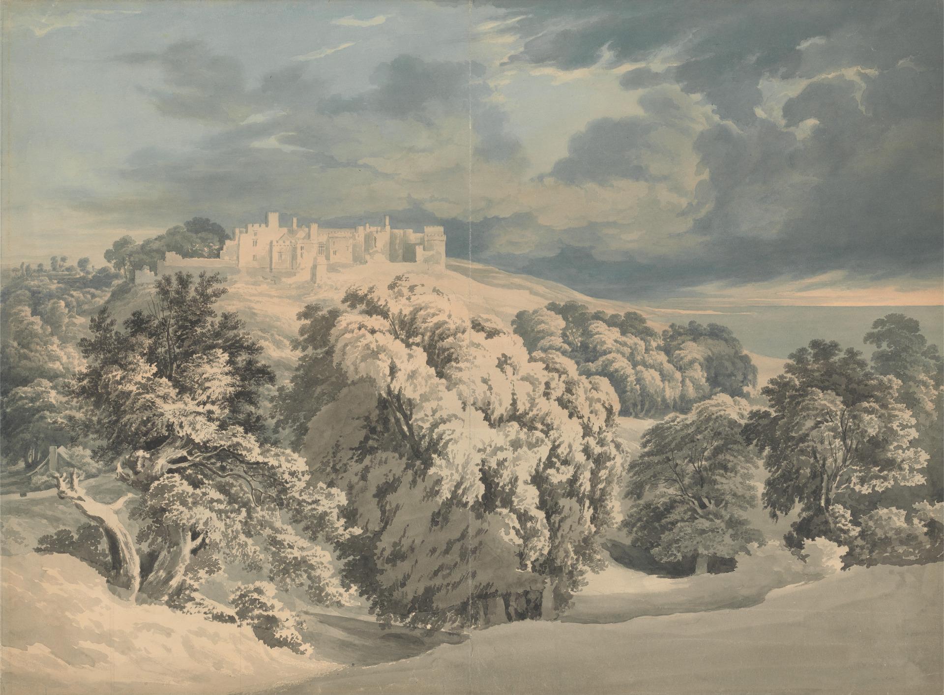 St. Donat's Castle, Glamorganshire. John Glover. Undated.