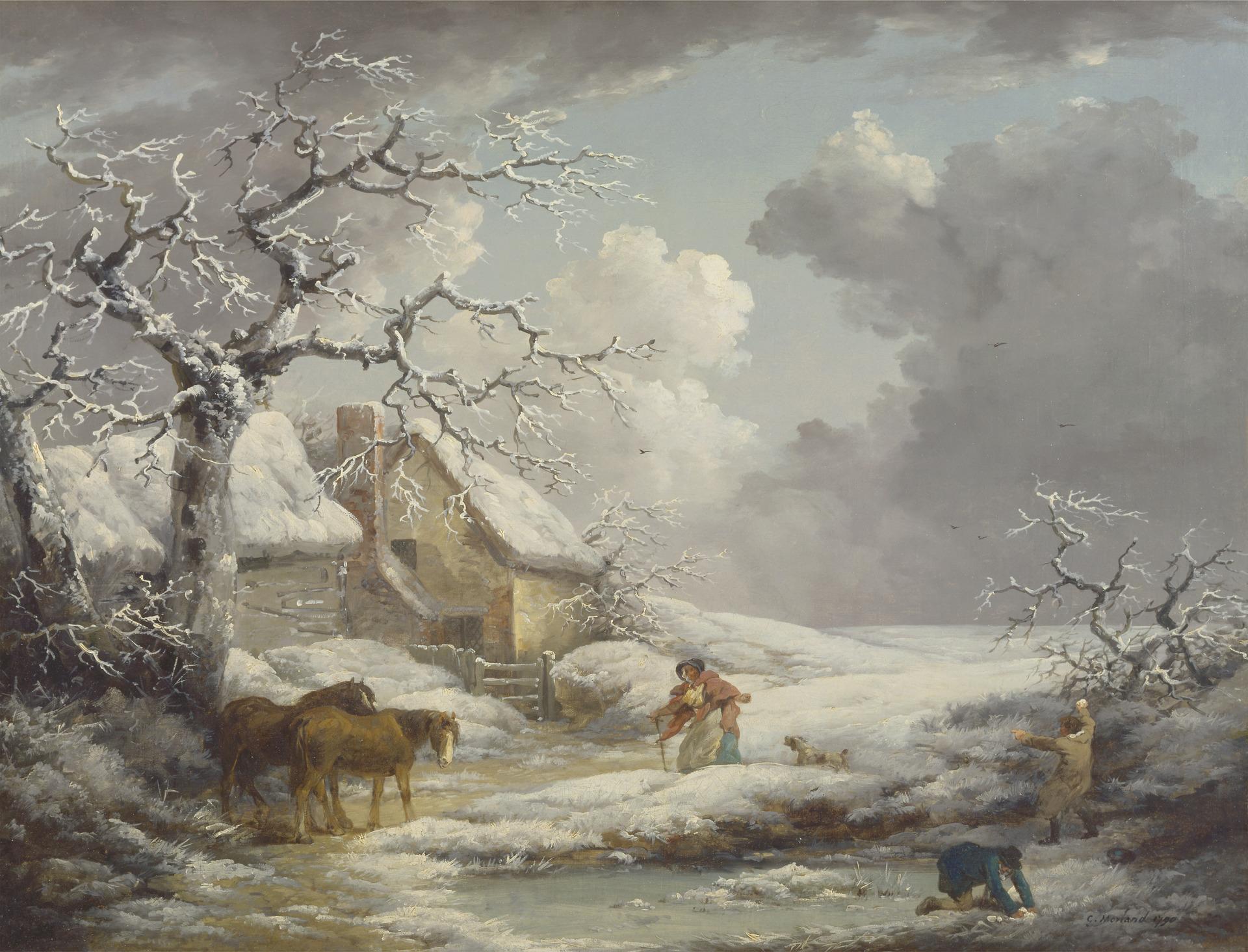 Winter Landscape. George Morland. 1790.