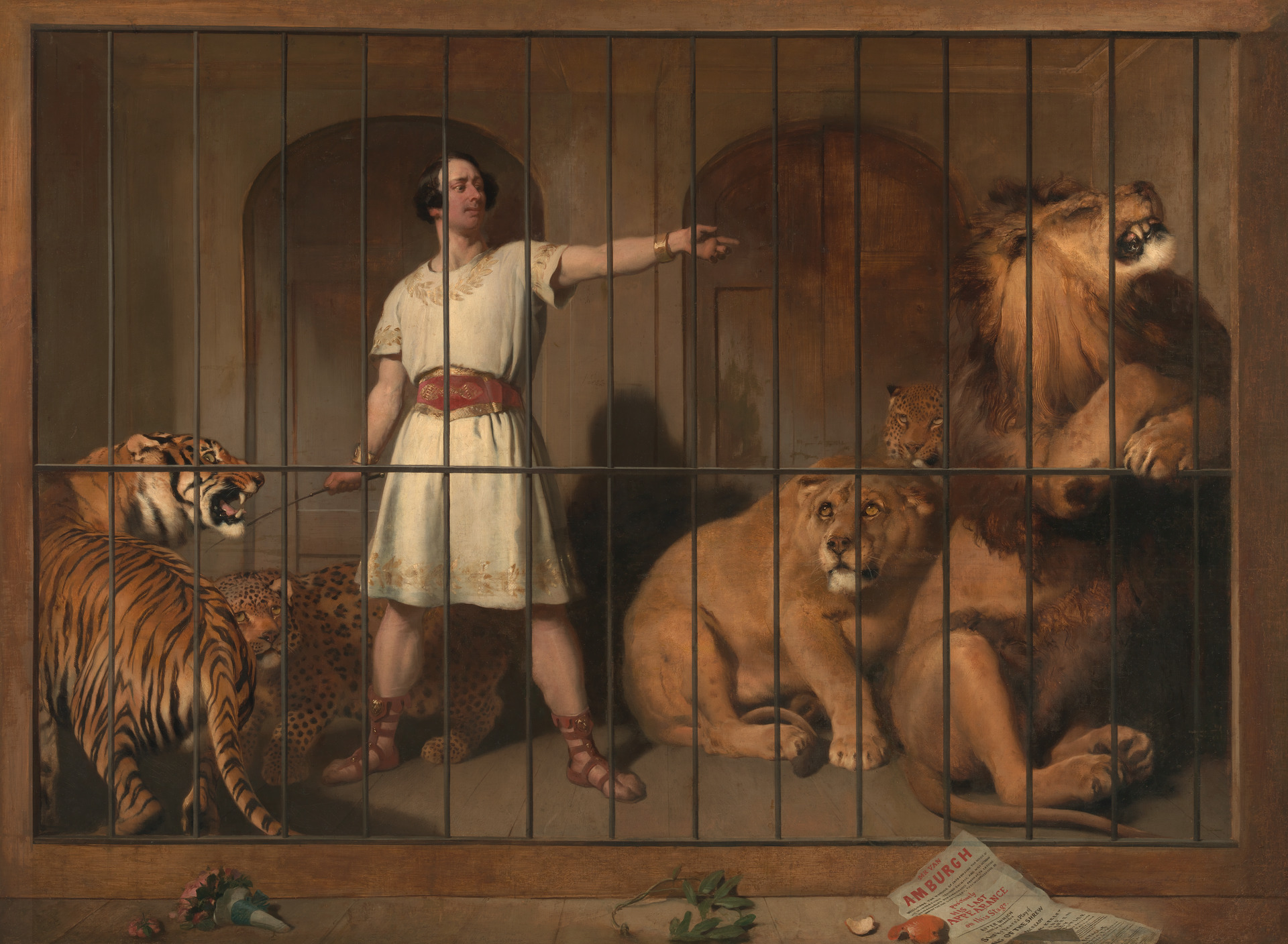 Portrait of Mr. Van Amburgh, As He Appeared with His Animals in the London Theatres. Sir Henry Landseer. 1846-1847.