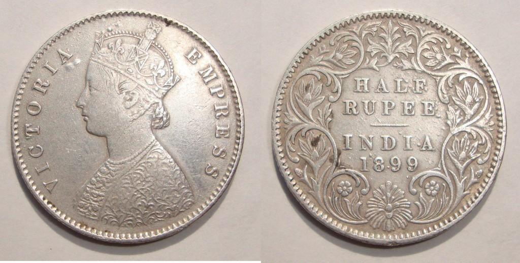 Half Rupee, 1899