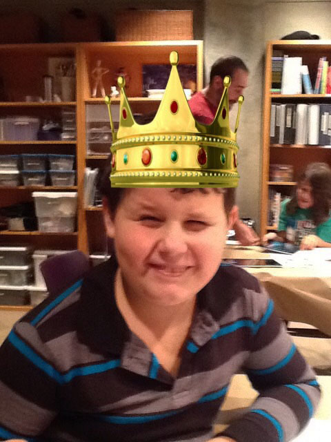 Alexander in his crown