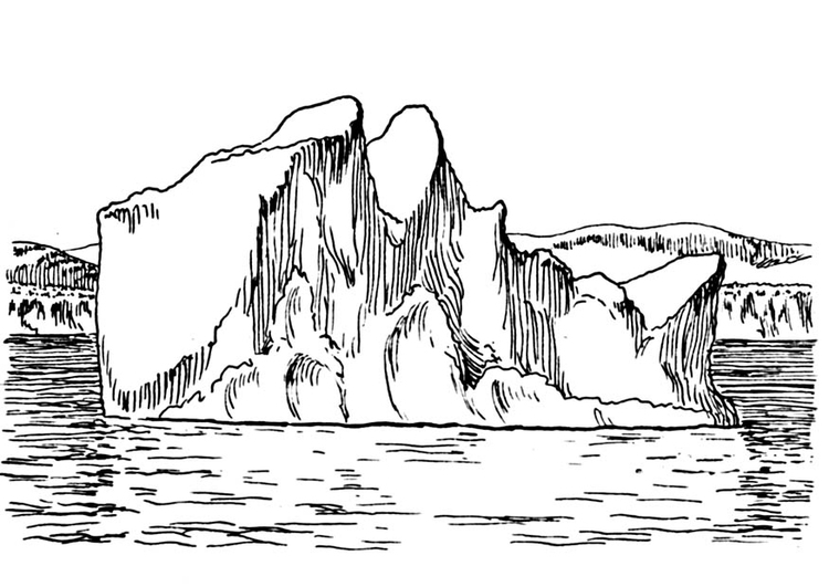 Iceberg coloring book
