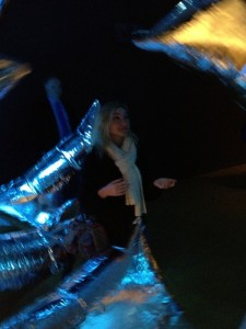 First Year sholar Chloe Bell enjoys the Warhol Museum