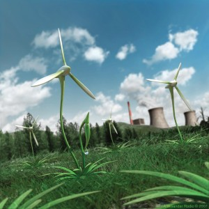 green grass turbines