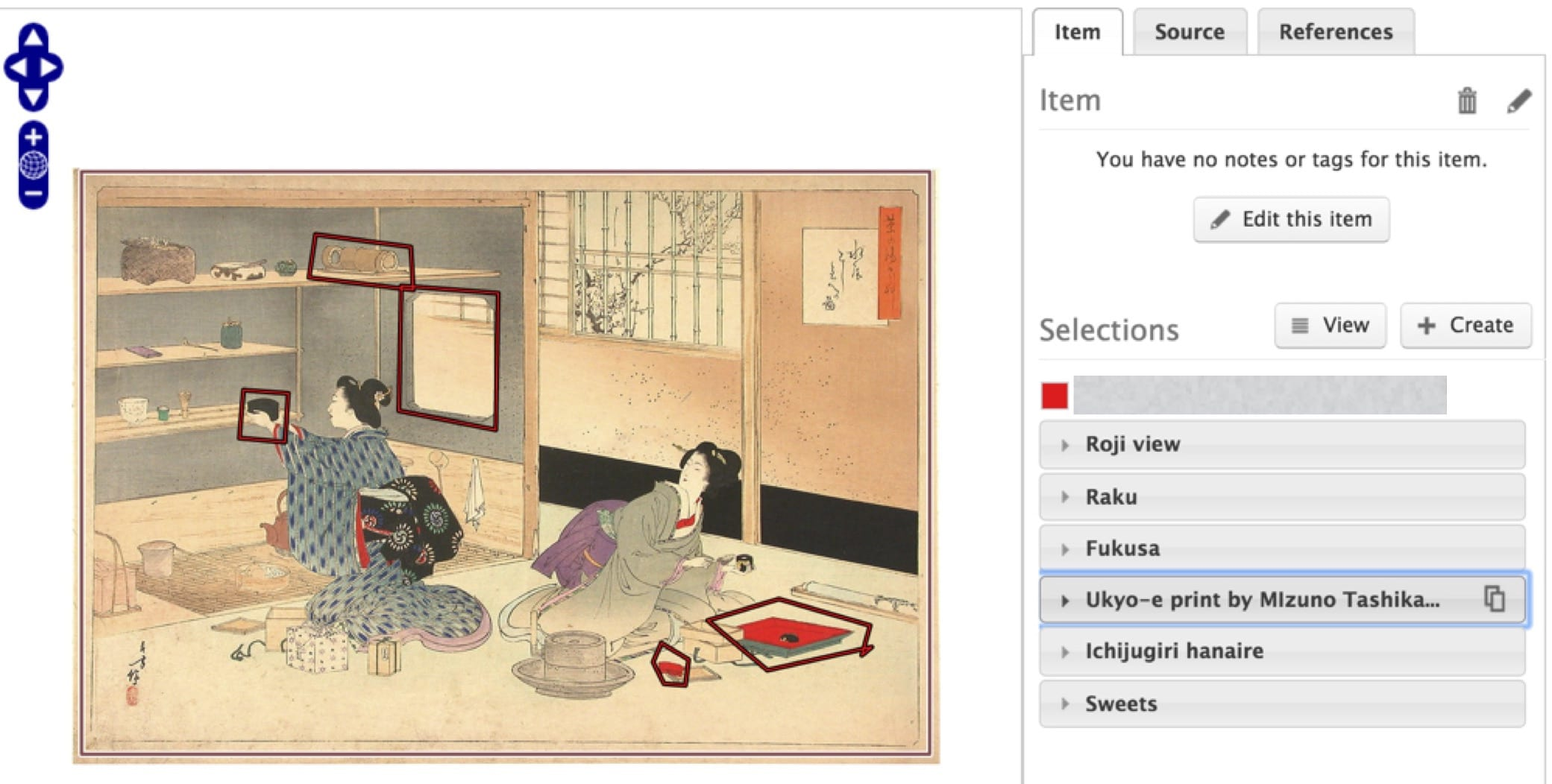 Screen grab of Japanese ceremony Mediathread project