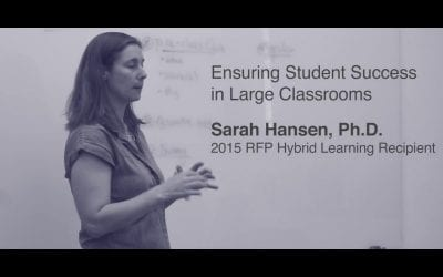 Sarah Hansen on Ensuring Student Success in Large Classrooms