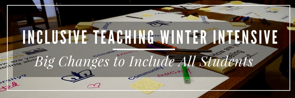 Inclusive Teaching Winter Intensive