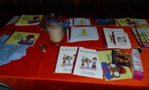 As part of the Healing the Children surgical mission to Neiva, Colombia, Cate Crowley's team created Spanish-language books to teach children with cleft palate how to improve their speech.