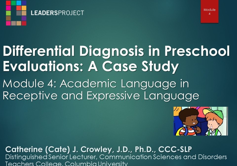 Academic Language in Receptive and Expressive Language (DDPE Playlist: Module 4)