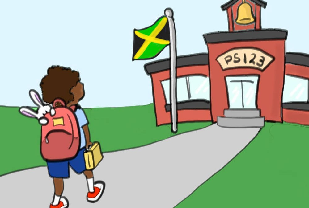 SLAM Bunny Goes to School Cards – Jamaica