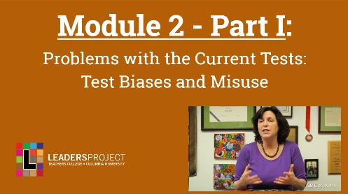 Early Intervention Evaluations- Module 2a- Standardized Test Misuse