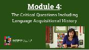 Early Intervention Evaluations- Module 4- The Critical Questions