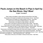 Paulo Na Praia Translation