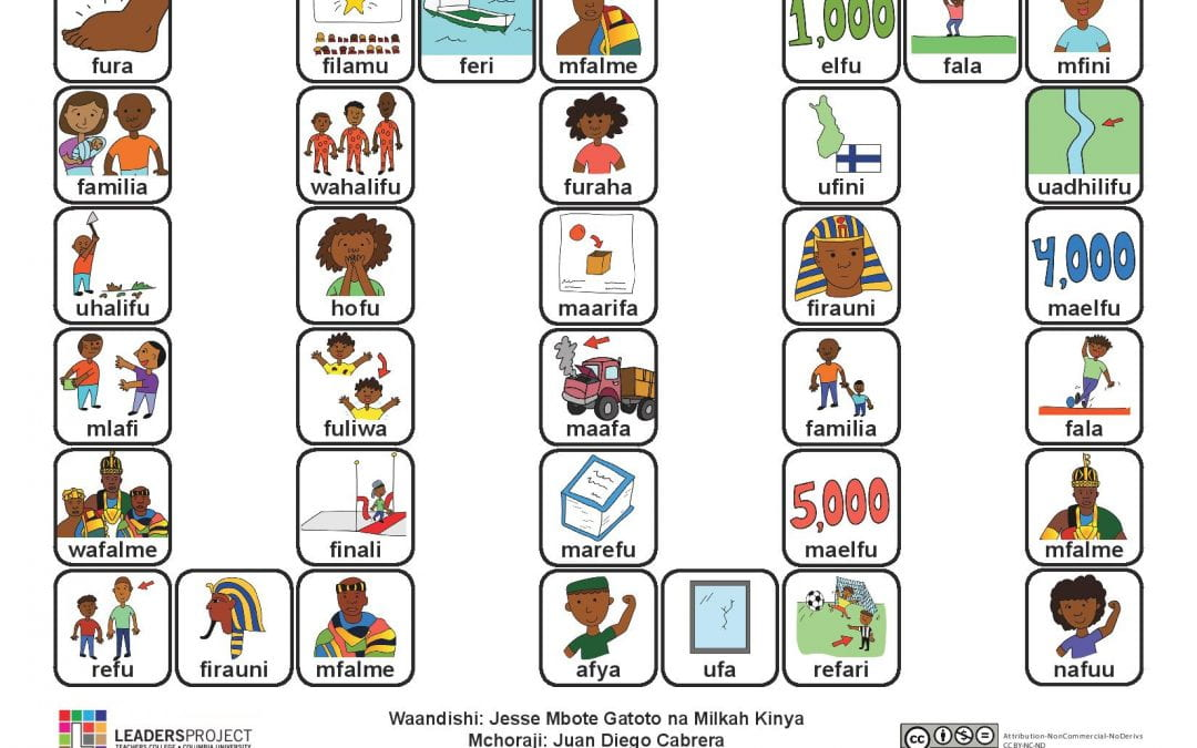 (Kiswahili) Cleft Palate Therapy Word Game for F